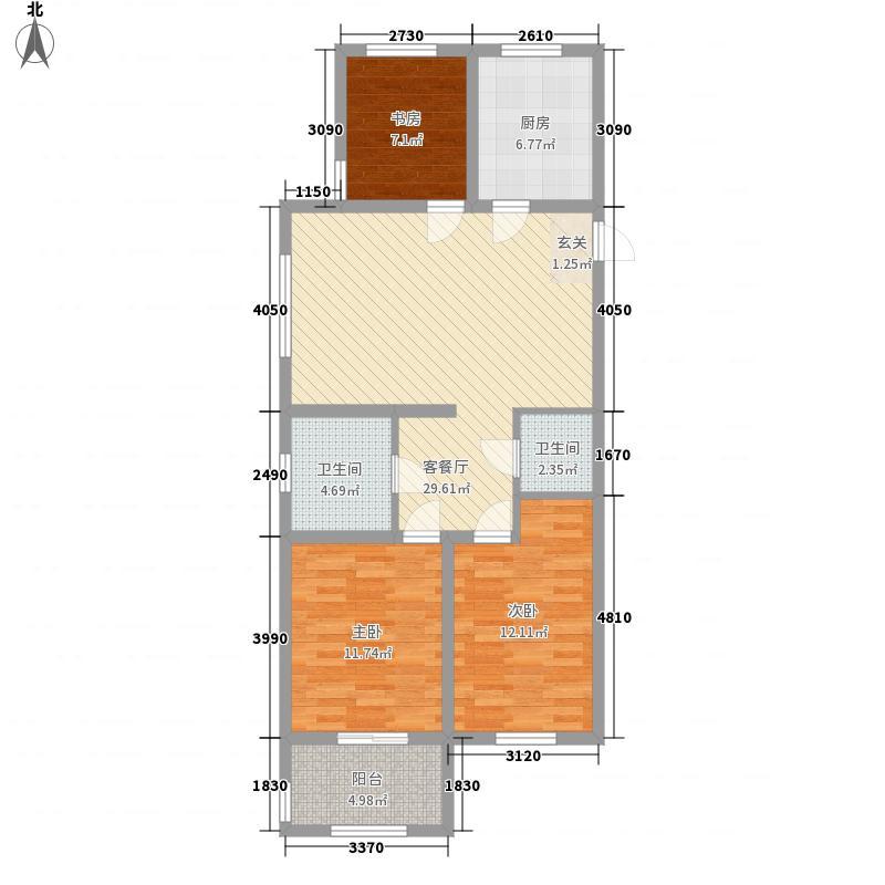 东湖豪庭114.10㎡5#C户型3室2厅1卫1厨
