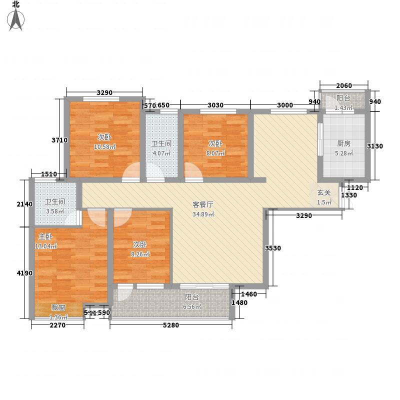 后炉子旧村改造项目三号楼G3a户型4室2厅2卫