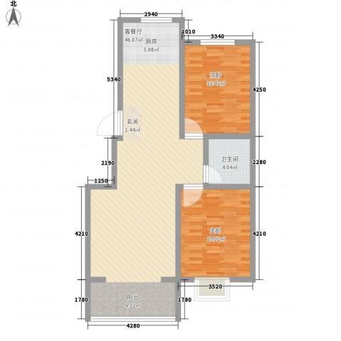 金牛小区南区2室1厅1卫0厨106.00㎡户型图
