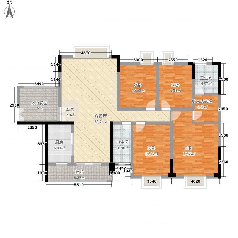 楠桦178.00㎡小区户型4室