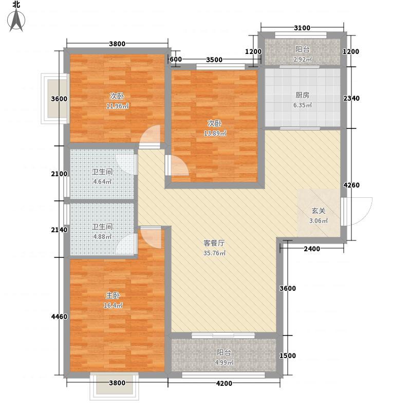 和平壹�34147.32㎡A3-户型3室2厅2卫1厨