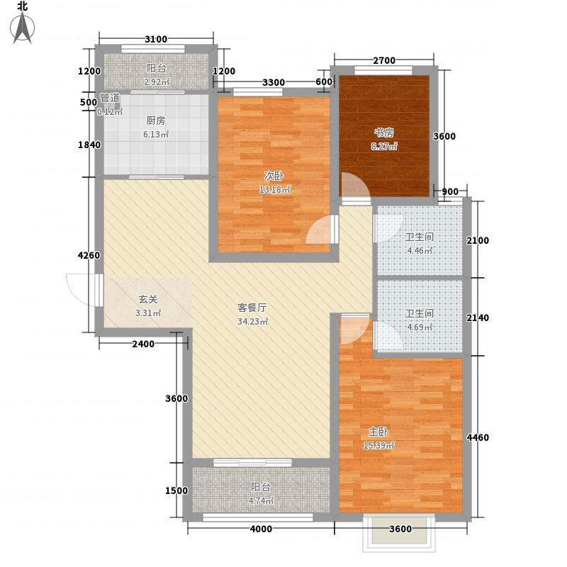 和平壹�35133.57㎡A3-户型3室2厅2卫1厨