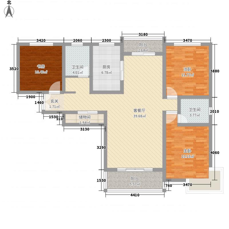 广杰龙湖华庭145.00㎡户型3室2厅2卫1厨