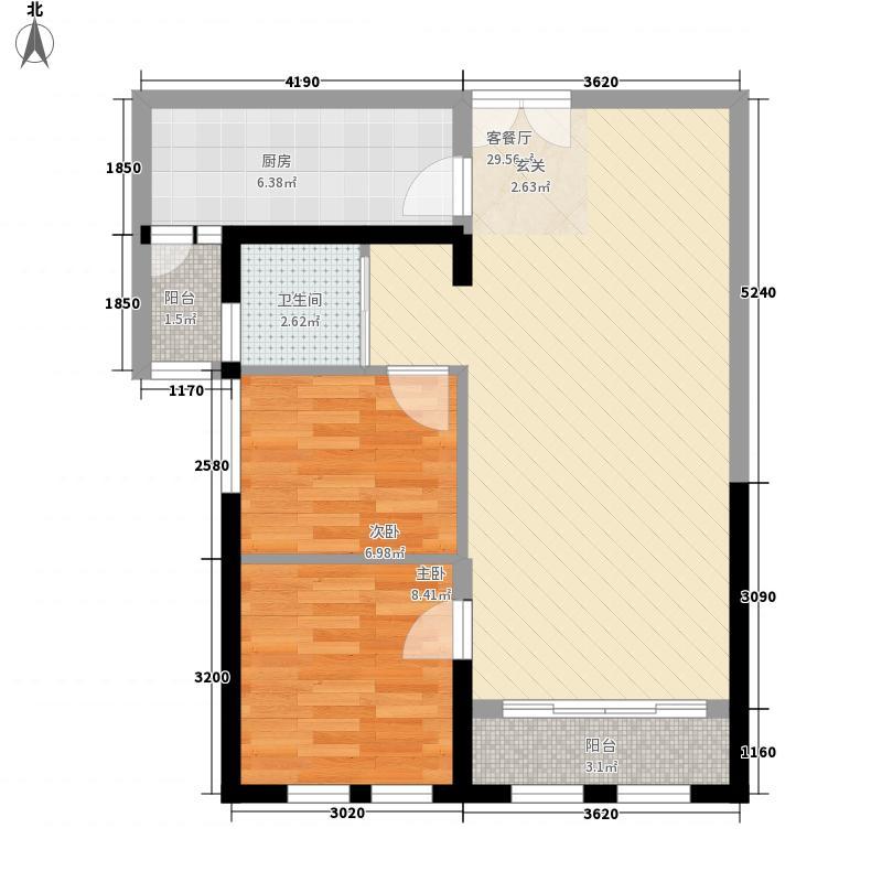大理滇西商务中心384.14㎡A3-A-X-户型2室2厅1卫1厨