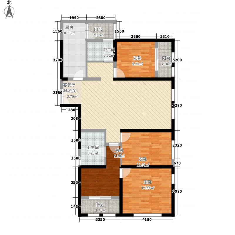 大理滇西商务中心2145.54㎡A2-C-X-户型3室2厅2卫1厨