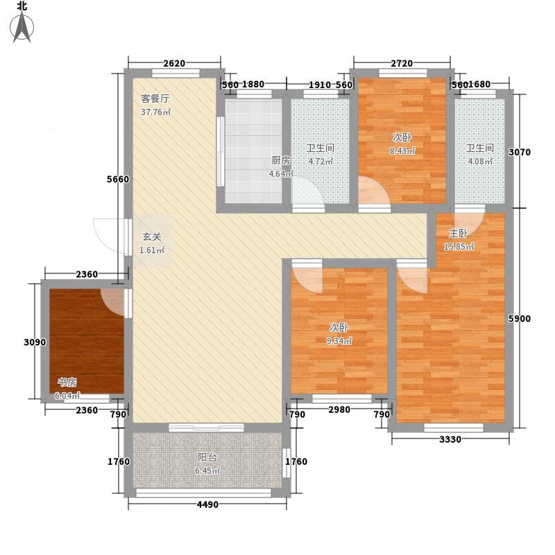 荣兆・锦宸141.00㎡g户型4室2厅2卫1厨