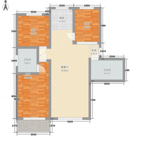 凤凰城3室1厅2卫0厨101.06㎡户型图