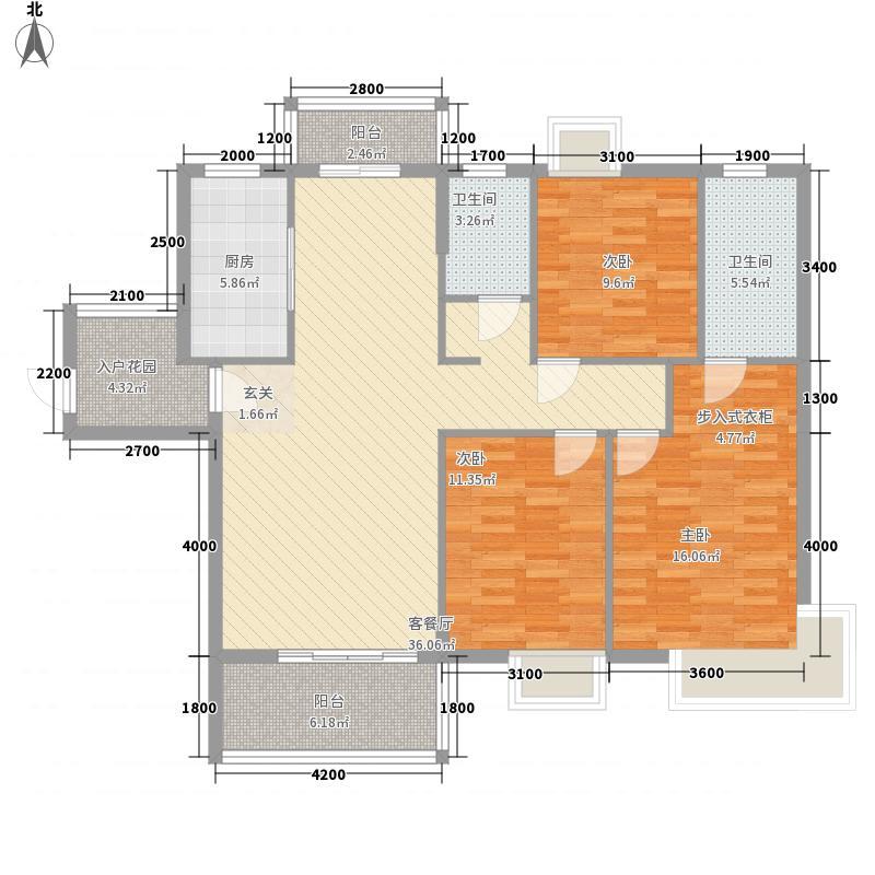 龙峰・学府新城125.60㎡C3-01户型3室2厅2卫1厨