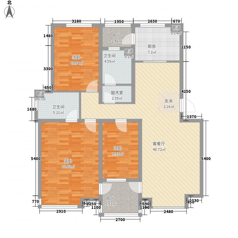 山水龙城14.00㎡户型3室2厅2卫