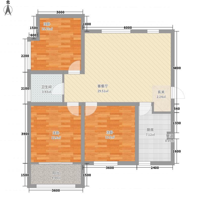 和平壹�31118.28㎡A3-户型3室2厅1卫1厨