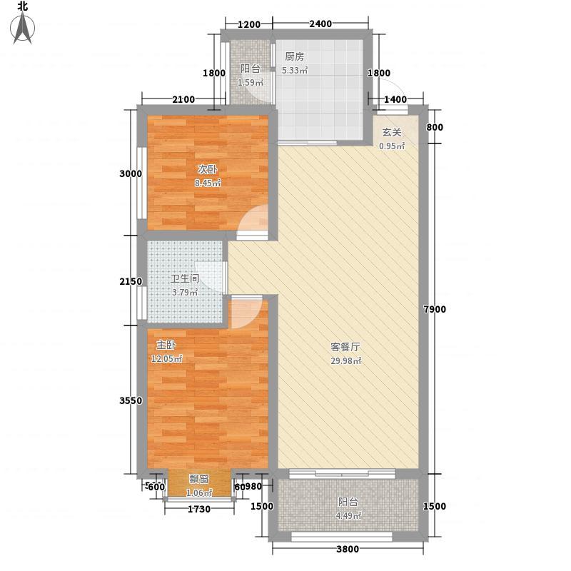 和平壹�336.53㎡A3-户型2室2厅1卫1厨