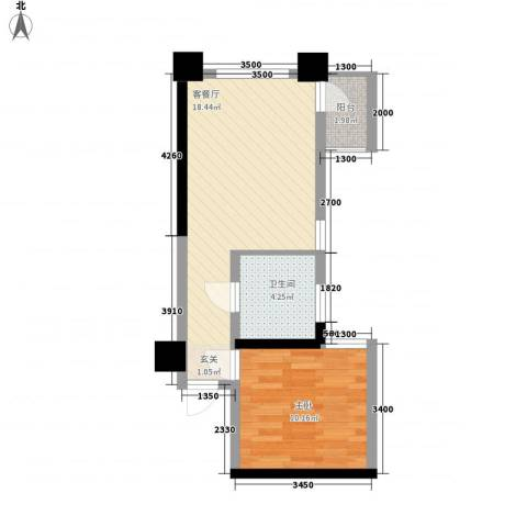 达人联盟1室1厅1卫0厨148.00㎡户型图