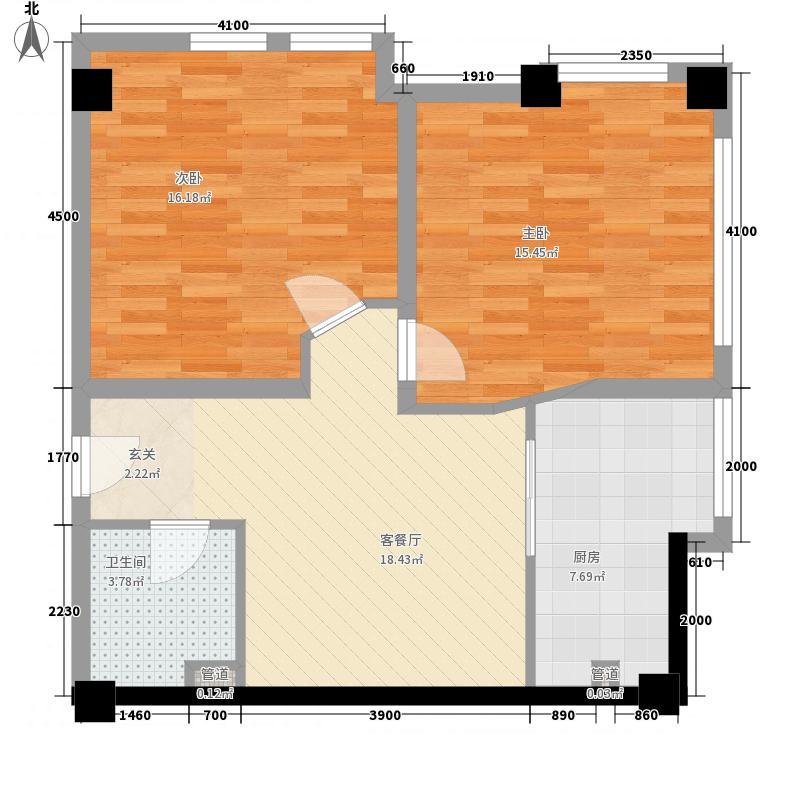 国光万豪广场5.50㎡B-E1(E2)户型2室1厅1卫1厨