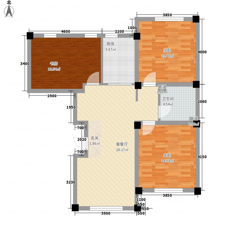 彩丽园13.00㎡户型3室