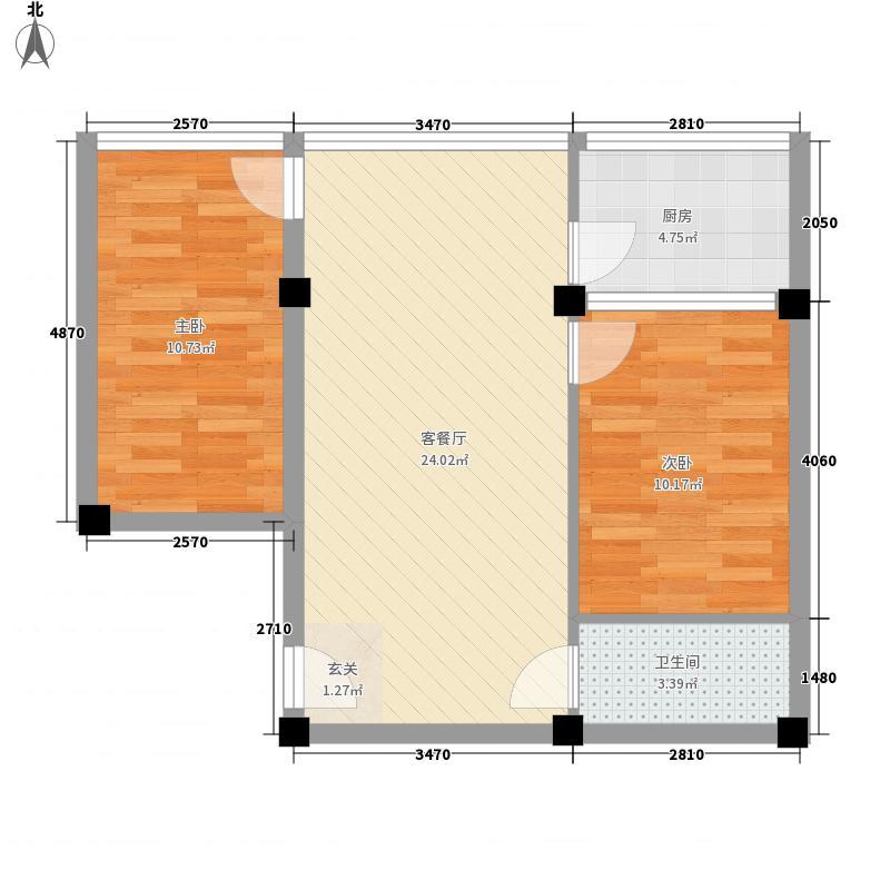 新九洲花园75.12㎡新九洲花园75.12㎡2室1厅1卫1厨户型2室1厅1卫1厨
