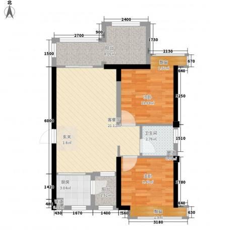 TPARK时尚公园2室1厅1卫1厨78.00㎡户型图