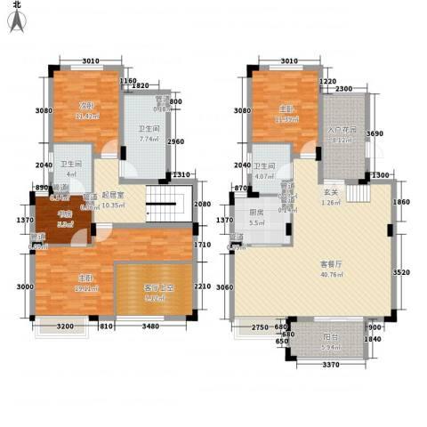 龙泽半岛逸湾4室1厅3卫1厨185.00㎡户型图
