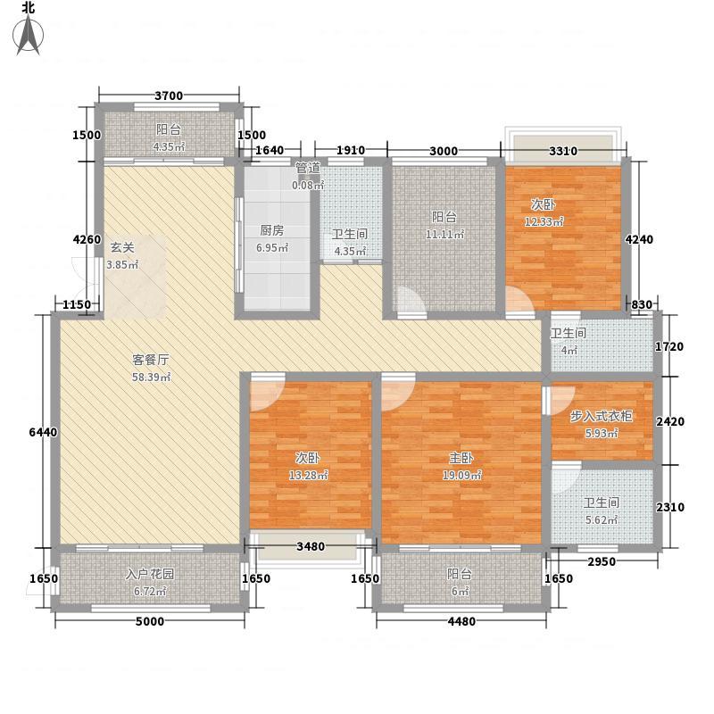 凯�清华园18.80㎡F2户型4室2厅3卫1厨