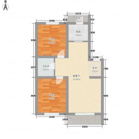 富吉家园2室1厅1卫1厨73.00㎡户型图