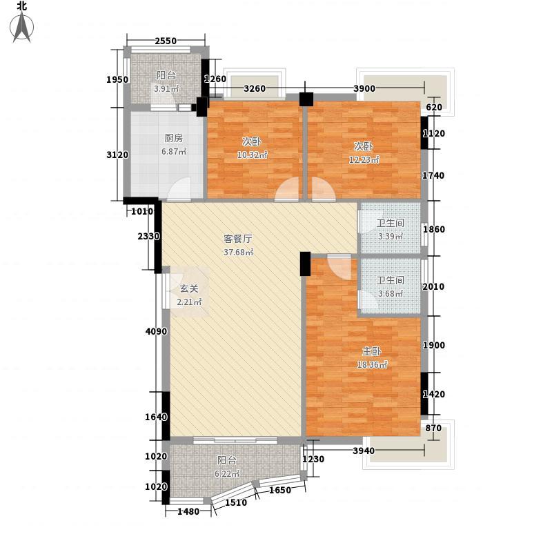 上城・骏园127.00㎡26栋301户型3室2厅2卫