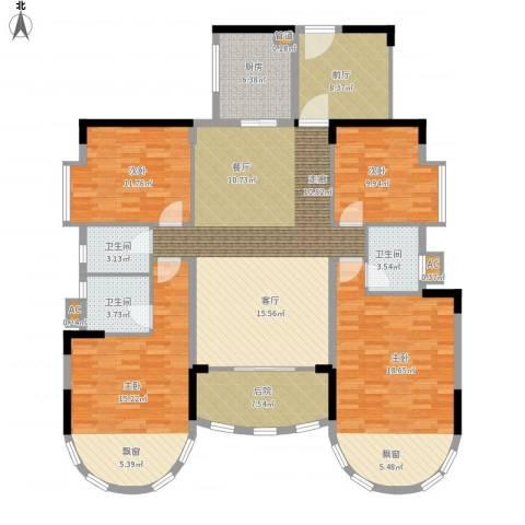 茗雅荟4室1厅3卫1厨190.00㎡户型图