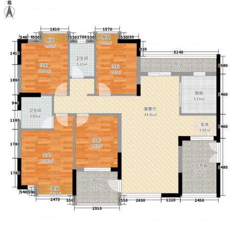 金辉花园4室1厅2卫1厨148.00㎡户型图