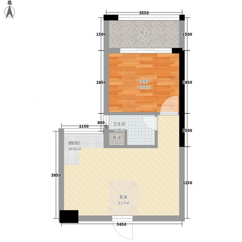 永利幸福广场345.48㎡3栋C户型1室2厅1卫1厨