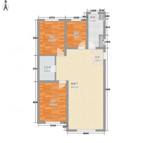 东湖凤还朝3室1厅1卫1厨112.00㎡户型图