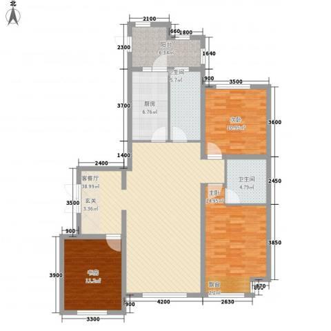 金安向日葵3室1厅2卫1厨141.00㎡户型图