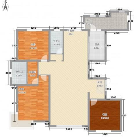 金安向日葵3室1厅2卫1厨190.00㎡户型图
