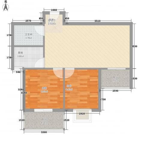 天馨雅园2室1厅1卫1厨81.00㎡户型图