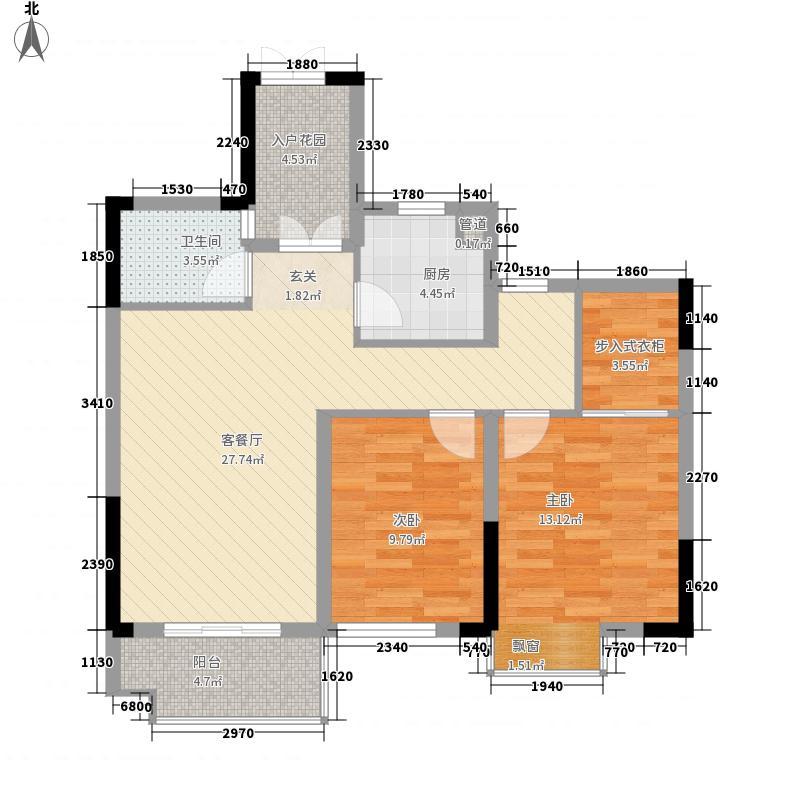 佳源巴黎都市2室1厅1卫1厨102.00㎡户型图