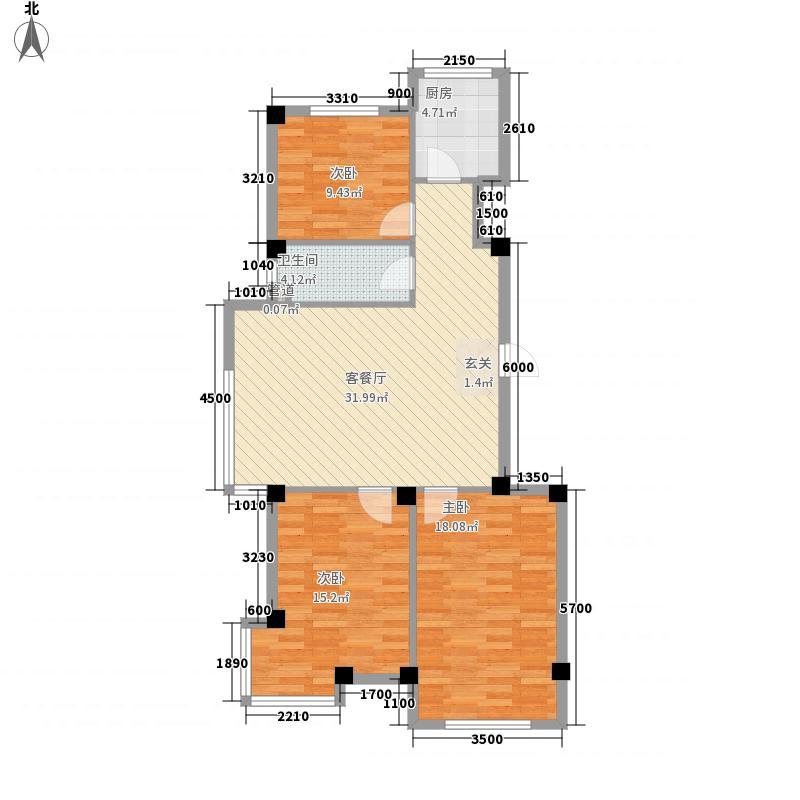阿金湾・嘉苑116.16㎡G户型3室2厅1卫1厨