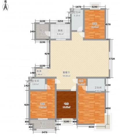 智雅茗苑4室1厅3卫1厨188.00㎡户型图
