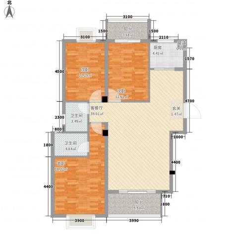 华府豪庭二期3室1厅2卫1厨314.00㎡户型图