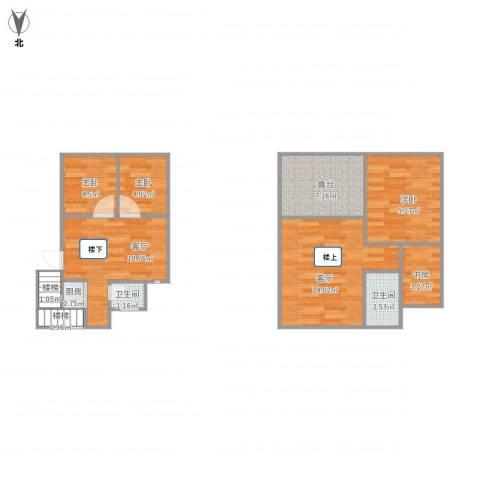 闻钟苑4室2厅2卫1厨82.00㎡户型图