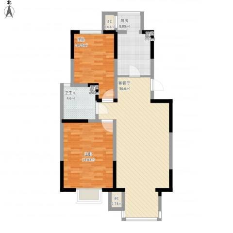 福源九方2室1厅5卫1厨100.00㎡户型图