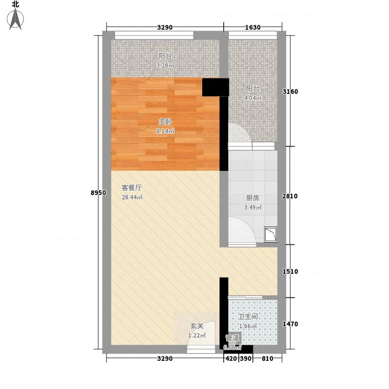 湘运大厦55.72㎡c1户型1室1厅1卫
