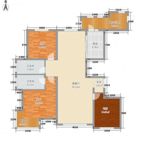 金安向日葵3室1厅2卫1厨171.00㎡户型图