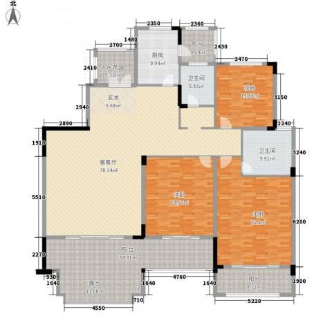 香江帝景3室1厅2卫1厨313.00㎡户型图
