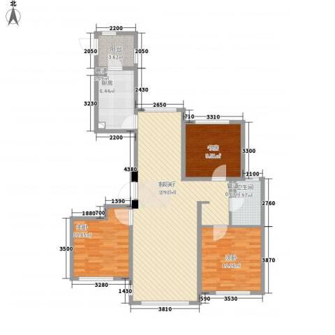 君熙太和3室1厅1卫1厨118.00㎡户型图