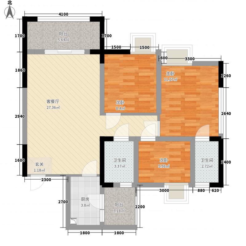 工贸・家世界4.20㎡户型3室2厅2卫1厨
