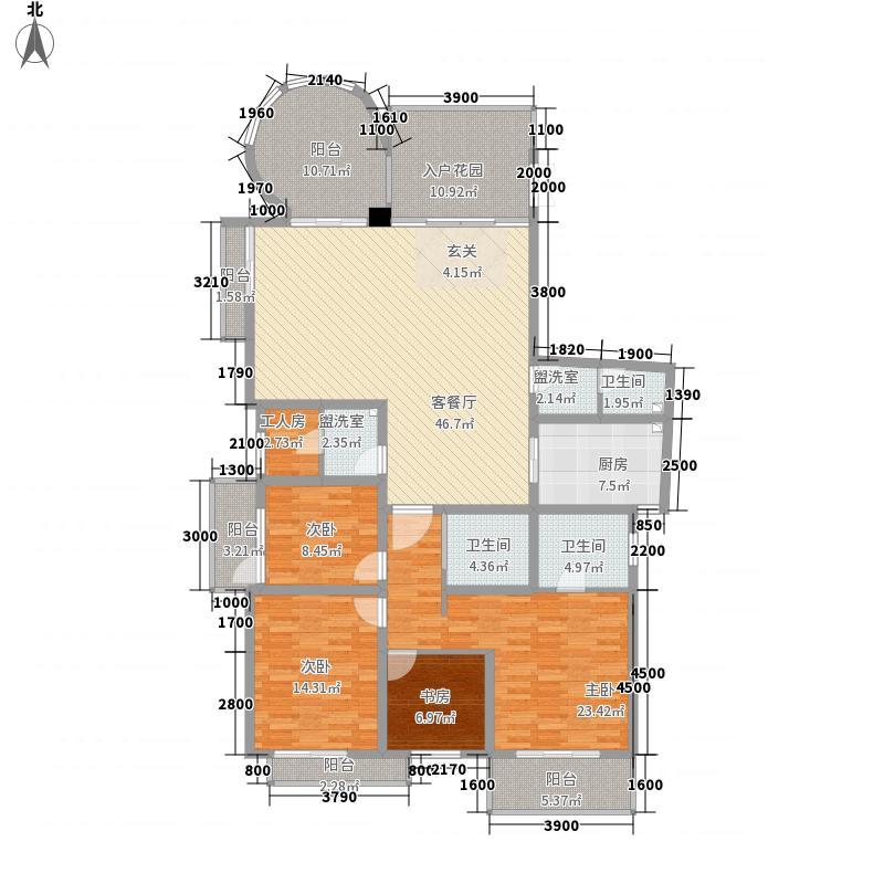启迪国际1622.20㎡B1/B6户型4室2厅3卫1厨