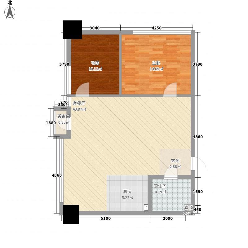 新华・新领寓12.43㎡住宅A户型2室2厅1卫1厨
