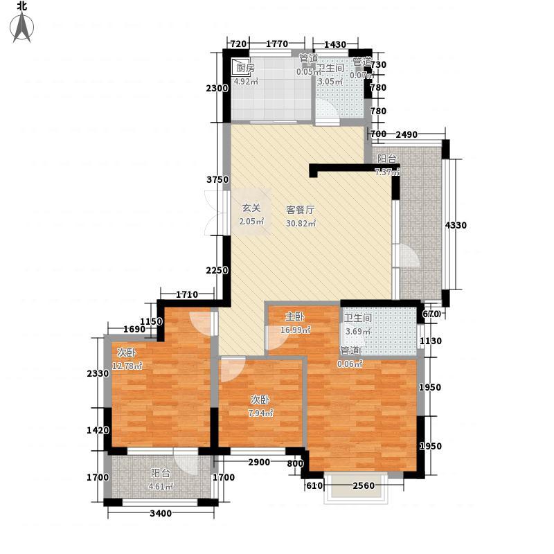 山水一品33125.62㎡C3户型3室2厅2卫1厨