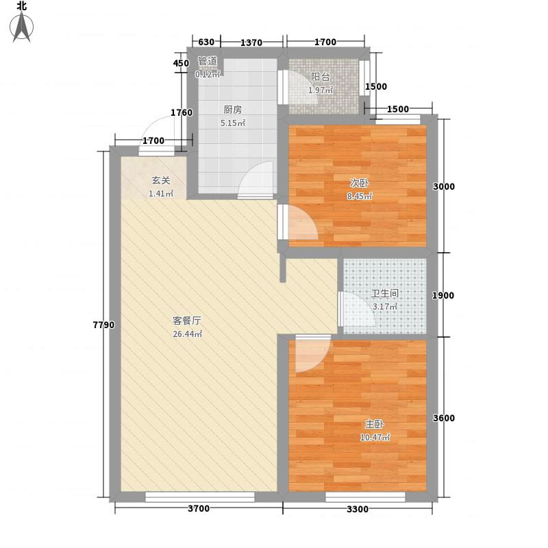 永泰城12-15号楼F户型