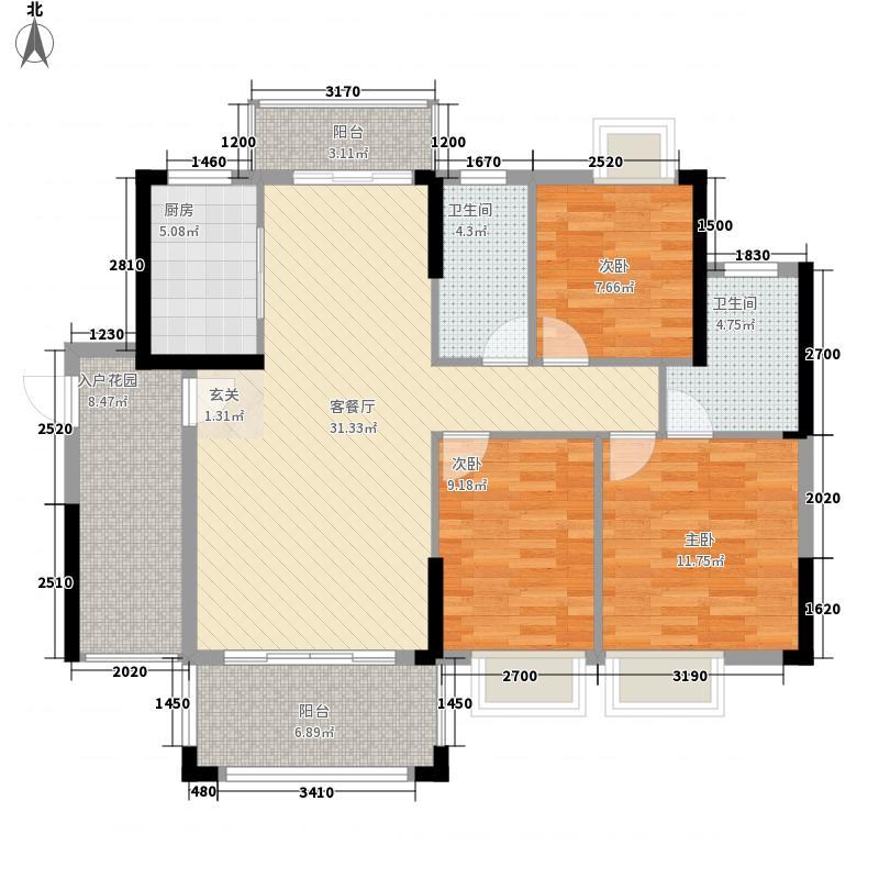 万隆丽景2313113.25㎡2/3/13栋户型3室2厅2卫