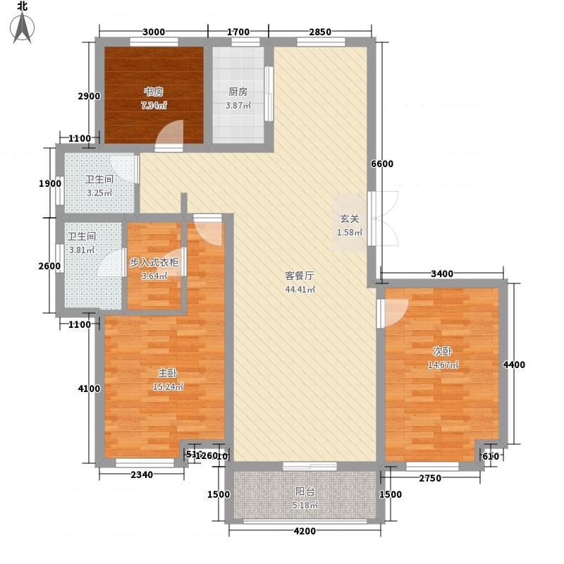 特变・森林花园3.20㎡D户型3室2厅2卫1厨