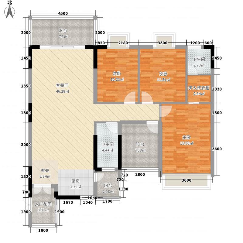 粤海时代新城12142.20㎡1#A2户型3室2厅2卫1厨