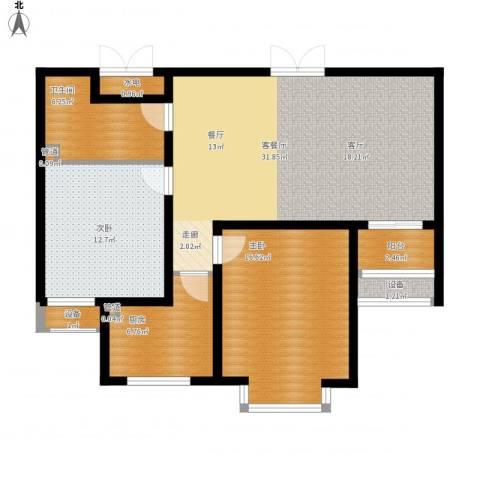 新领地2室1厅1卫1厨115.00㎡户型图